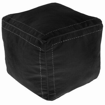 Bungalow Rose Mouassine Leather Square Pouf Ottoman