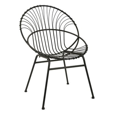Bungalow Rose Burnett Reserve Iron Side Chair