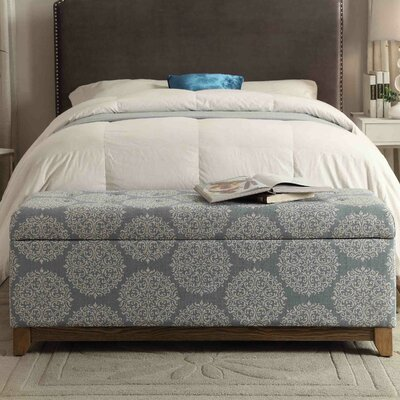 Bungalow Rose Navya Wood Storage Bedroom Bench
