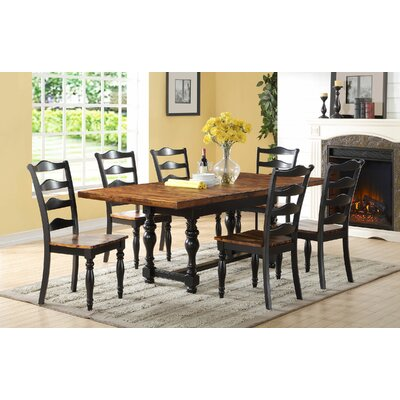 Bungalow Rose Habib 7 Piece Extendable Dining Set