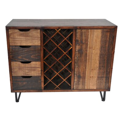 Bungalow Rose Ouanane 14 Bottle Floor Wine Cabinet