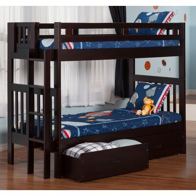 Viv + Rae Duane Twin Over Twin Bunk Bed with Storage