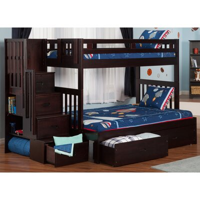 Viv + Rae Twin over Full Bunk Bed with Staircase and Storage