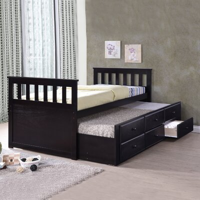 Viv + Rae Noreen Twin Slat Bed with Trundle and Drawers