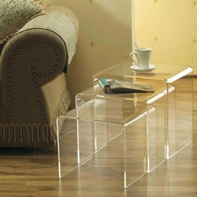 HomCom 3 Piece Nesting Tables