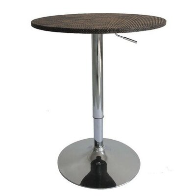 HomCom Modern Adjustable Height Pub Table