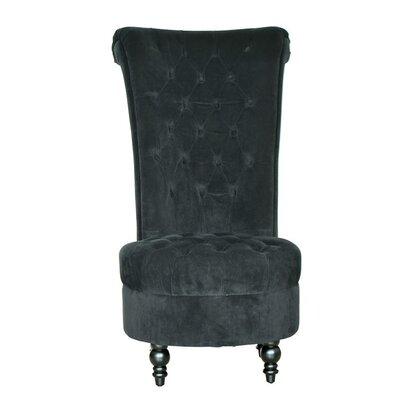 HomCom Tufted High Back Velvet Side Chair
