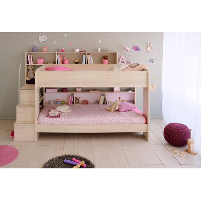 Parisot Bibop 2 Twin Over Twin Bunk  Bed with Trundle