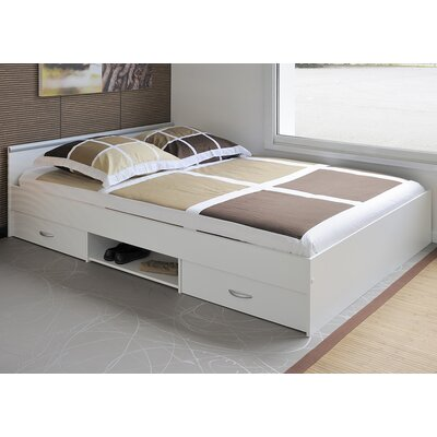 Parisot Alpha Full/Double Storage Platform Bed
