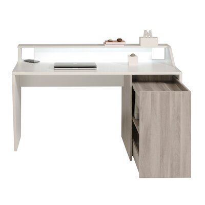 Parisot Cinloup Computer Desk with Built-in Wireless Charging System