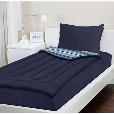 Zipit Bedding Navy Blue Reversible Bed In A Bag Set