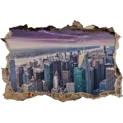 pixxprint aerial view of new york wall sticker wayfair uk new york door sticker moonwallstickers com