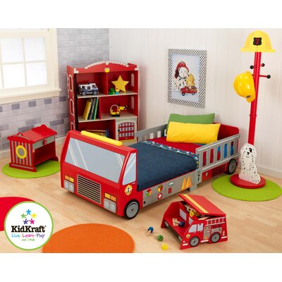 KidKraft Firefighter Toddler Car Customizable Bedroom Set