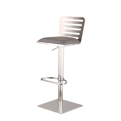 Armen Living Delmar Adjustable Height Swivel Bar Stool