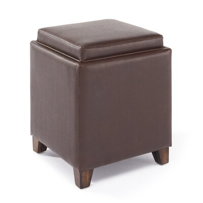 Three Posts Fowler Contemporary Storage with Tray Ottoman