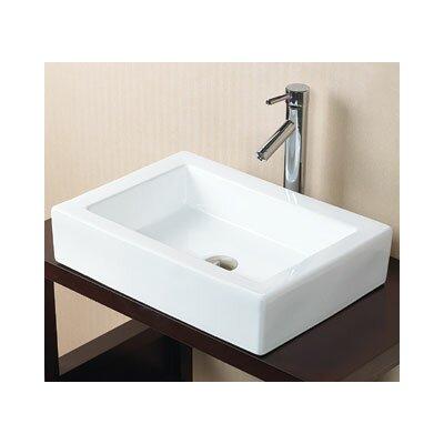 Bathroom Sinks Rectangular ronbow format rectangle vessel bathroom sink & reviews | wayfair