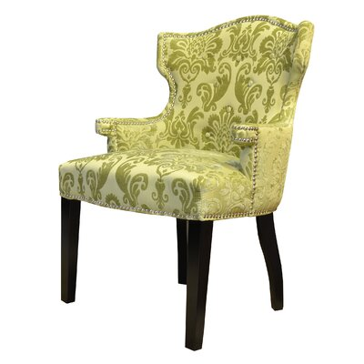 HD Couture Brittania Fan Damask Wingback Chair