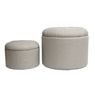 HD Couture 2 Piece Nested Shoe Ottoman