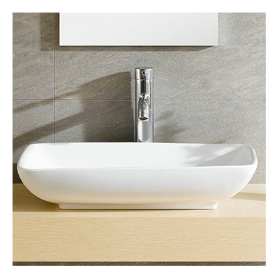 Fine Fixtures Modern Ceramic Rectangular Vessel Bathroom Sink U0026 Reviews |  Wayfair