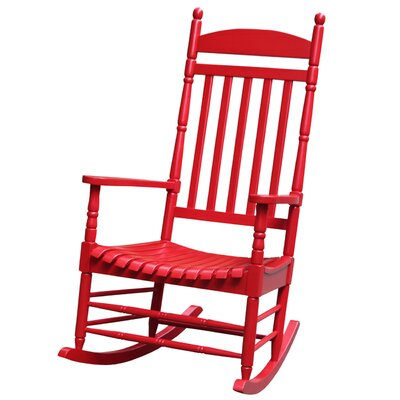 Breakwater Bay Jonesboro Solid Wood Rocking Chair & Reviews  Wayfair