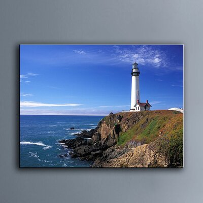 Breakwater bay pigeon point lighthouse photographic print on canvas