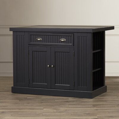 Breakwater Bay Gouldsboro Kitchen Island with Granite Top
