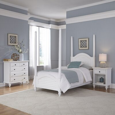 Breakwater Bay Kenduskeag Four Poster 3 Piece Bedroom Set