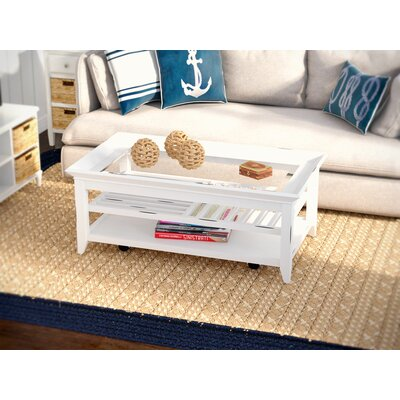 Breakwater Bay Maidstone Coffee Table with Tray Top
