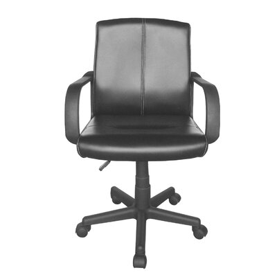 Urban Shop Tufted Leather Mid-Back Executive Chair