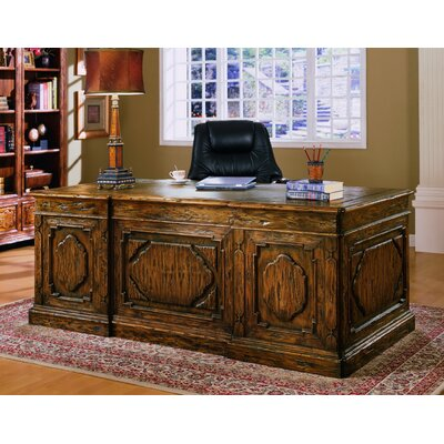 Eastern Legends Burgundy Executive Desk with File Cabinet