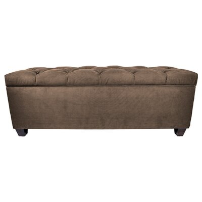 MJL Furniture Obsession Upholstered Storage Bedroom Bench