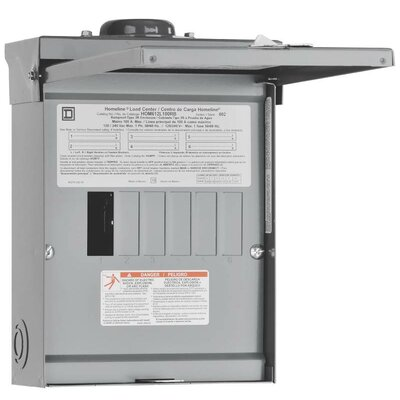 Square D 100 Amp Manual Transfer Switch with Main Lug Load Center