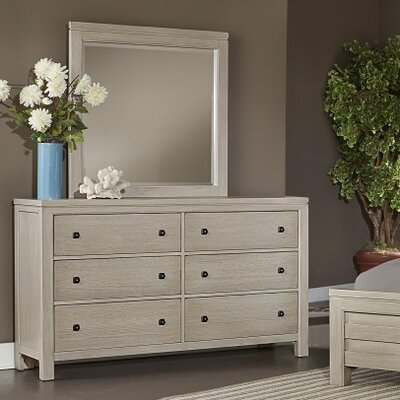 Darby Home Co Hedlund 6 Drawer Dresser with Mirror