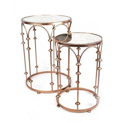 Sagebrook Home 2 Piece Metal End Table Set