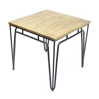 Sagebrook Home Metal Wood Top End Table