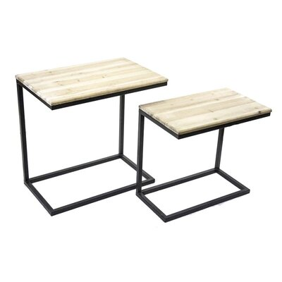 Sagebrook Home 2 Piece Metal and Wood ..