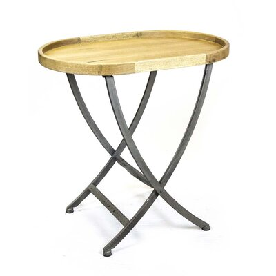 Sagebrook Home Wood & Metal Oval End Table