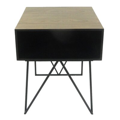 Sagebrook Home Wood and Metal End Table