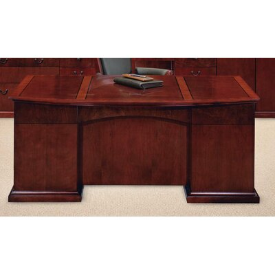 Flexsteel Contract Del Mar Bow Front Executive Desk