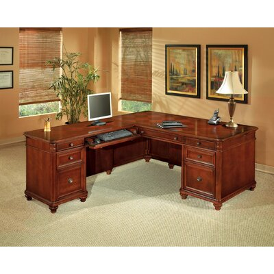 Flexsteel Contract Antigua L-Shape Executive Desk with Right Return