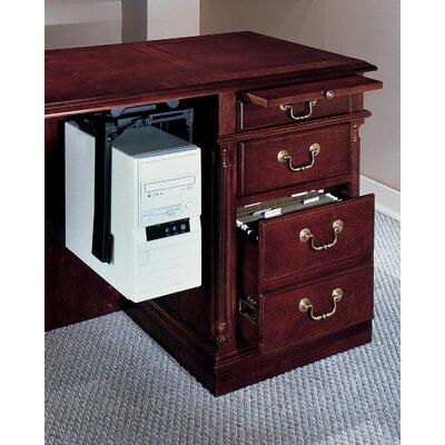 Darby Home Co Prestbury Credenza Desk with Right Single Pedestal