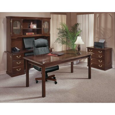 Flexsteel Contract Governor's 4-Piece Standard Desk Office Suite