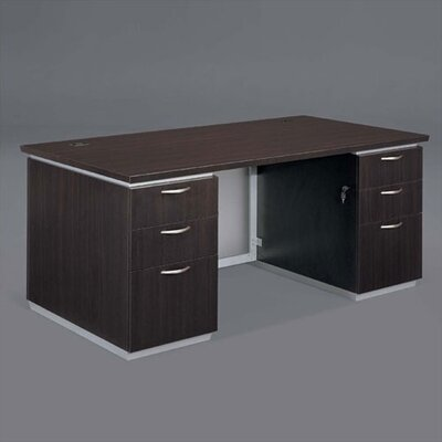 Flexsteel Contract Pimlico Executive Desk with Double Pedestals