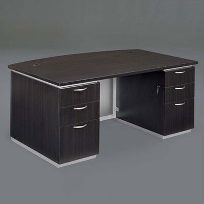Flexsteel Contract Pimlico Bow Front Executive Desk