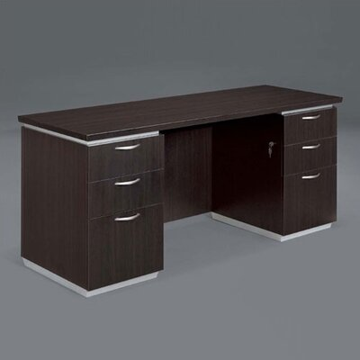 Flexsteel Contract Pimlico Computer Desk with Double Pedestals
