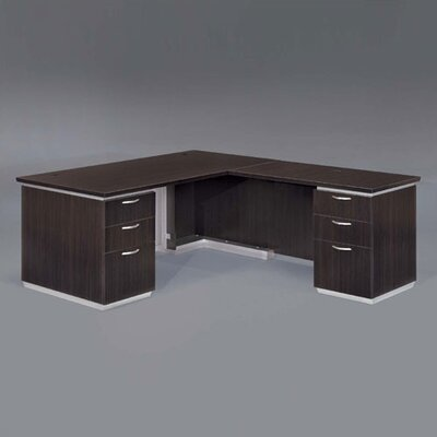 Flexsteel Contract Pimlico L-Shape Executive Desk with Return