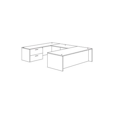 Flexsteel Contract Fairplex Executive Desk with Right / Left Lateral File