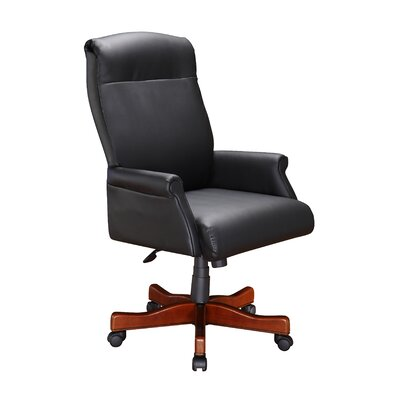 Darby Home Co Prestbury Back Height Leather Executive Office Chair