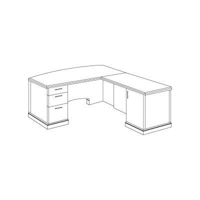 Flexsteel Contract Belmont L Shape Executive Desk