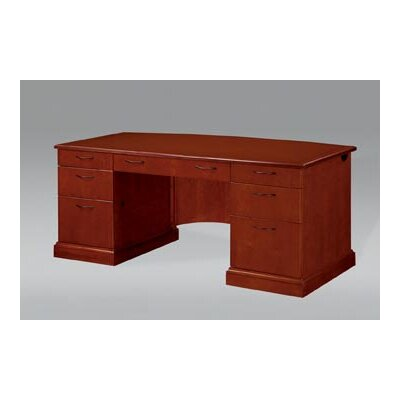 Flexsteel Contract Belmont Executive Desk with 9 Drawers